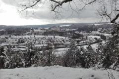 Blick auf Eichstätt im Winter
